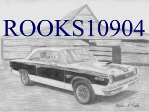 1969 Amc Hurst Sc rambler Muscle Car Art Print
