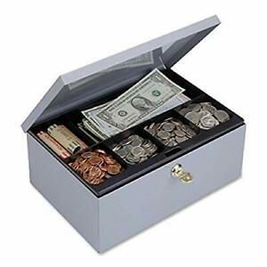 Steelmaster Cash Box With Security Lock Includes Keys 11 25 X 4 38 X 7 5 Inch