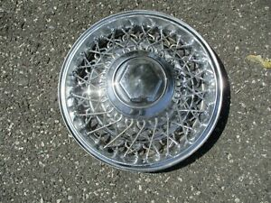 One Factory 1982 To 1989 Dodge Diplomat 15 Inch Wire Spoke Hubcap Wheel Cover