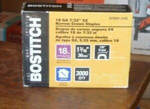 2 bostitch sx50351 3 16g 1 3 16 By 18 Gauge By 7 32 crown Finish Staple 3000 C