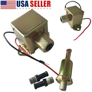 Universal 12v Low Pressure Electric Fuel Pump With 12 Volt 2 4 Psi Usa