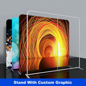 Custom 10ft Trade Show Display Pop Up Stand Back Wall Booth Expo With Print