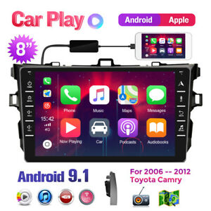 For Toyota Corolla 2006 2012 Car Stereo Radio Android Apple Carplay Android 9 1
