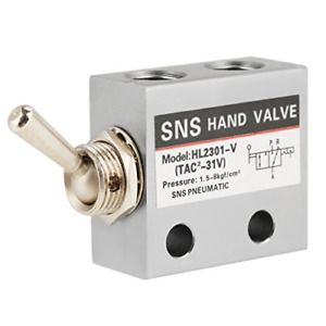 Sns Pneumatic 3 Position 2 Port Toggle Switch G1 8 Pneumatic Mechanical Valve