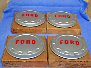 1961 1967 Ford Truck F100 Painted Hub Caps Nos