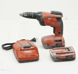 Hilti Sd 4500 a22 Drywall Screwdriver Screwgun W 2 Batteries And Charger