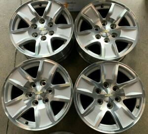 Four 2018 Chevy Silverado Tahoe 1500 Factory 17 Wheels Rims Oem 5657 Suburban