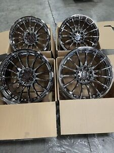 17x8 25 19 Xxr 550 5x100 5x114 3 Platinum Wheels Rims Used Set