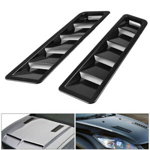 2p Universal Car Hood Vent Louver Scoop Cover Air Flow Intake Cooling Panel Trim Fits 2005 Ford Mustang