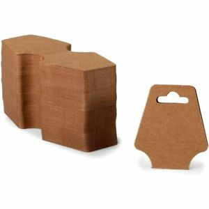 Kraft Paper Necklace Display Cards 2 X 4 7 In 600 Pack