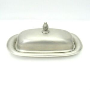 International Silver Co Butter Dish With Lid And Glass Insert