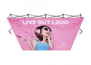 10ft Tension Fabric Pop Up Display Backdrop Stand Trade Show Stand frame Only