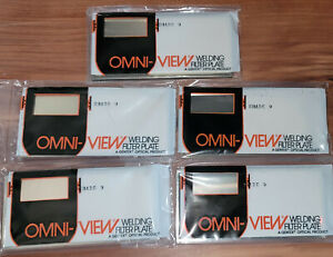 5 Nos Vtg Omni view Welding Lens Shade Filter Plate 2 X 4 25 Gold Shade 9