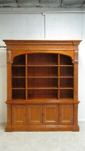 Ethan Allen Bookcase Library Cabinet Legacy Arch Bookcase China Cabinet Hutch