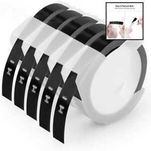 Oozmas Compatible Label Tape Replacement For Dymo Embossing 3 8 3d Plastic Labe