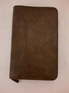 Brown Leather Day timer Planner