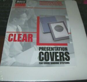Clear Presentation Covers Ibico Binding Systems For Comb Binding Systems 25 Nip