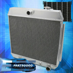 For 55 57 Chevy Sbc Small Block Mt Performance Tricore Cooling Aluminum Radiator