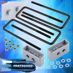 For 04 20 Ford F150 4wd 2wd Silver Rear 1 5 Spacer Blocks Lift Leveling Kit Set