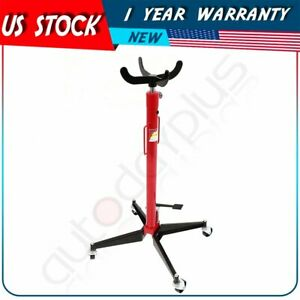 Hydraulic Transmission Jack Stand High Lift 1100 Lbs Foot Pump Spring Loaded