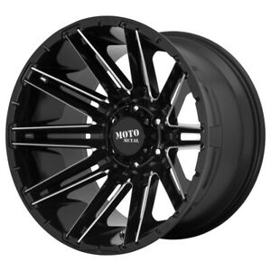 4 Moto Metal Mo998 Kraken 20x9 5x150 0mm Black Milled Wheels Rims 20 Inch