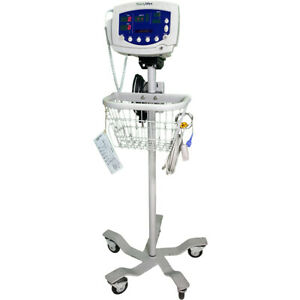 Welch Allyn Vital Signs Monitor 300 Series 53nt0 nibp Spo2 Temp Roll Stand