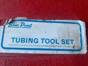 Blue Point Brake Pipe Flaring Tubing Tool Set Tf 528 d Manufactured For Snap On