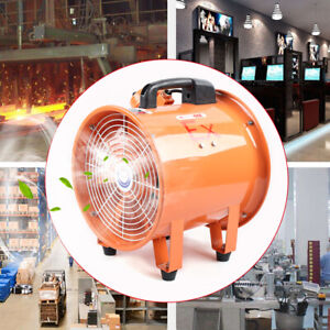 Explosion proof 10 Axial Fan Cylinder Pipe Spray Booth Paint Fumes Exhaust 110v