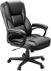 High Back Pu Leather Executive Office Desk Chair Ergonomic Swivel Computer Chair