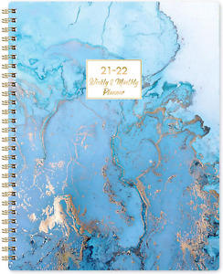 2021 2022 July Academic Daily Planner Weekly Monthly Calendar Organizer Blue