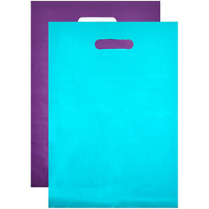 Plastic Shopping Bags Merchandise blue Purple 12 X 15 In 100 Pack