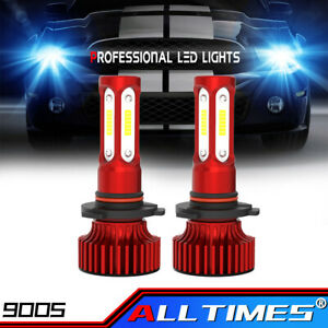 2x 9005 Hb3 Led 8000k Ice Blue Combo Headlight Kit Bulbs Fog High Low Beam 2200w
