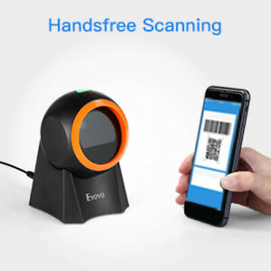 Hands free Ey 8800 Qr Desktop Barcode Scanner For Pos System Warehouse Bookstore