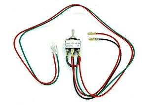 Momentary Spring back Action Pre wired Dpdt Switch For Reverse Forward Functions
