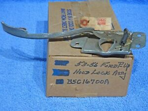 1953 1956 Ford Truck Hood Lock Assembly Nos