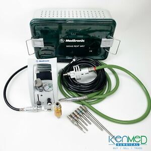 Medtronic Midas Rex Mr7 Spine Drill Set Mr7 Pm700 Foot Pedal 6 Attachments