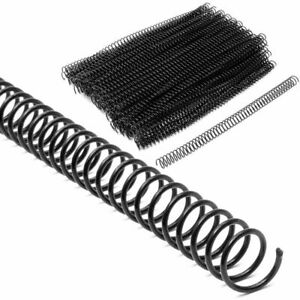 100 Spiral Binding Coils Plastic Coil Spines For 90 Sheets 12 In 12mm