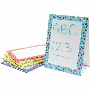 Double Sided Dry Erase Standing Easel Boards For Kids Classrooms 5 Pack