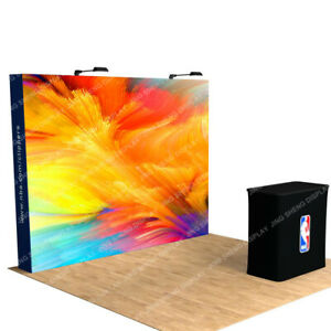 New 10ft Pop Up Display Trade Show Booth Backdrop Wall With Custom Print 3