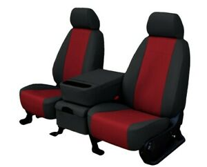 Ford Ranger 1998 2003 Red Faux Leather Custom Fit Front Seat Covers