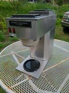 Mr Coffee Commercial Pour over Coffee Maker Brewer 2 warmer burner Mrctb