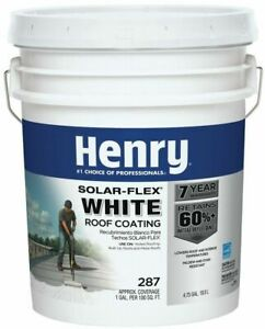 Henry White Roof Coating Reflective Elastomeric Cool Roof Interiors 4 75 Gallons