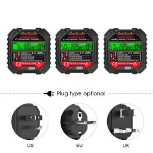 Electric Outlet Tester Power Socket Wall Plug Voltage Wire Testing Us Plug