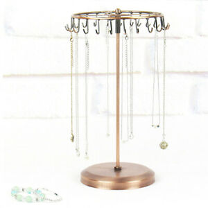Rotating Stand Shopping Mall High Capacity Dangly Earrings Jewelry Display Rack