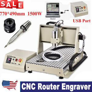 1 5kw Usb 3 Axis 6040 Cnc Router Engraver Milling Drilling Machine Pcb 3d Cutter