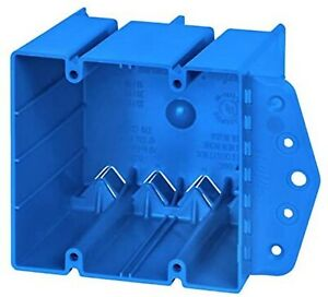 B249b 2 gang Blue Pvc New Work old Work Deep Switch outlet Wall Electrical Box
