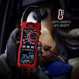 Kaiweets Ht208a Digital Clamp Meter Auto Lcd Multimeter Ohm Cap Freq Temp Test