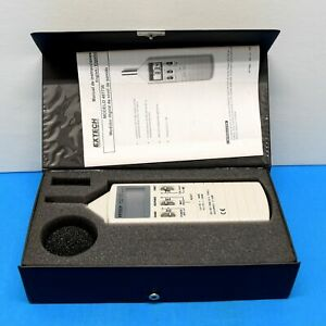 Extech 407736 Sound Level Meter With Case Noise Assessment Audio System Balance