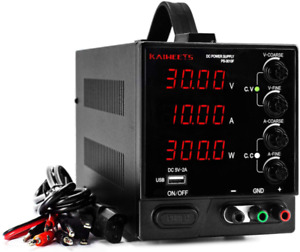 Dc Power Supply Bench Power Supply 0 30 V 0 10 A Led Variable Power Supply