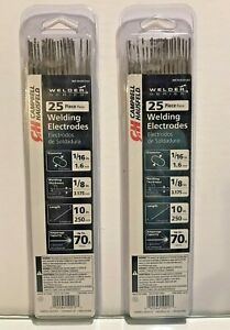 Campbell Hausfeld 25 Piece Welding Electrodes 10l1 16d 1 8 Thick Lot Of 2 New